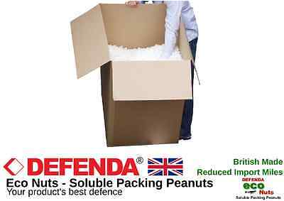 60 Cft ECO FRIENDLY PACKING PEANUTS (BOXED) Bulk Void Loose Fill Box Filler Nuts