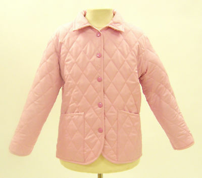 Campbell Cooper Brand New Girls Fitted Pink Quilted Riding Jacket Coat 12-13