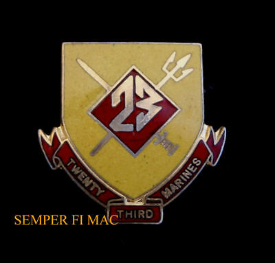 23Rd Marine Regiment Lapel Hat Pin Up Us Marines Usmc Veteran Reserves Gift Wow