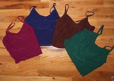 Nwt Dance Tops Camisole Child Adult 5 Colors Lined