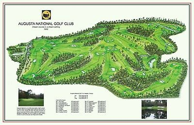 AUGUSTA NATIONAL 1932-Mackenzie/Jones - a vintage golf course map