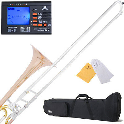 NEW TROMBONE Bb W/ F TRIGGER ROSE-BRASS BELL&LEAD PIPE