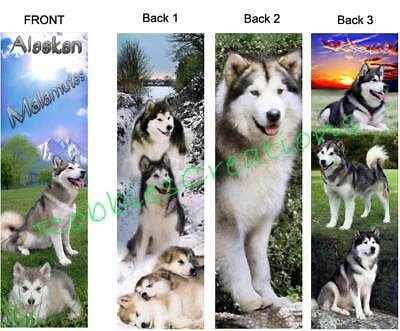 3 Set-ALASKAN MALAMUTE BOOKMARKS Sled Dog Husky Puppies book Mark Art figurine