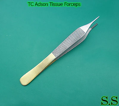 "12 Tc Adson Tissue Rat Tooth 1X2 Forceps 4.75"" Surgical"