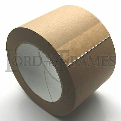 """75mm / 3"""" x 50m SELF ADHESIVE PICTURE FRAMING BACKING SEALING TAPE CANVAS"""
