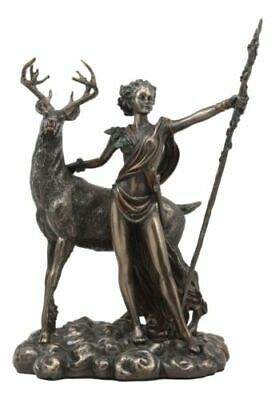 Greek Roman Goddess Of The Hunt Moon And Nature Diana With Stag Statue Artemis
