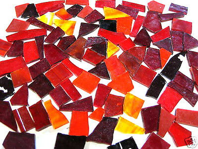 100 grams RED Stained Glass prefect MOSAIC pieces Craft SALE