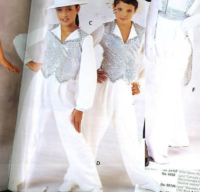 NEW WHITE DANCE PANTS PULLUP CHILD ADULT DOUBLEKNIT Theatrical dance costume