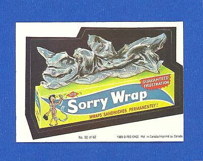 1989  OPC  O Pee Chee  Wacky Packages  # 62  Sorry Wrap
