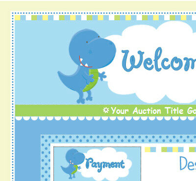 a cute baby dino dinosaur ebay auction template 11 54 picclick uk