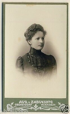 PRETTY YOUNG WOMAN in COSTUME * Vintage German CDV