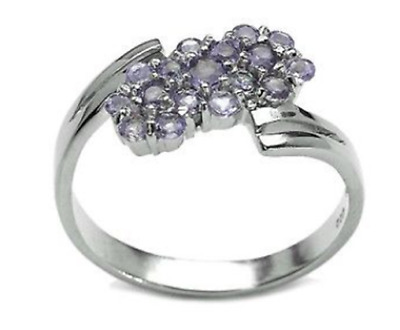 0.91ct Genuine Natural Tanzanite Solid 925 Sterling Silver Ring