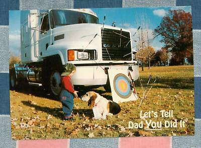 50 Postcards Little Lee Comic Trucking Let's Tell Dad You Did It