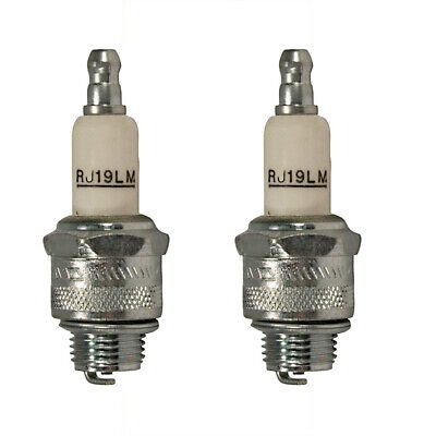 (2) CHAMPION RJ19LM Spark Plugs Compatible With Briggs & Stratton 802592