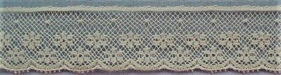 20mm Cream French Leavers Cotton Lace Edging (per metre)