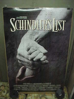 SCHINDLER'S LIST, orig rolled D/S 1-sht / movie poster (Liam Neeson)