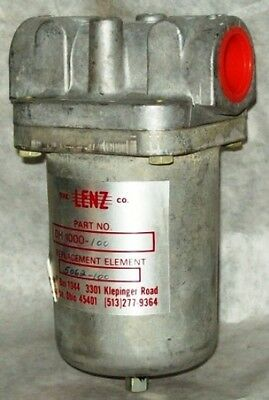 """Lenz 1"""" Hydraulic Suction In Line Filter DH-1000-100"""