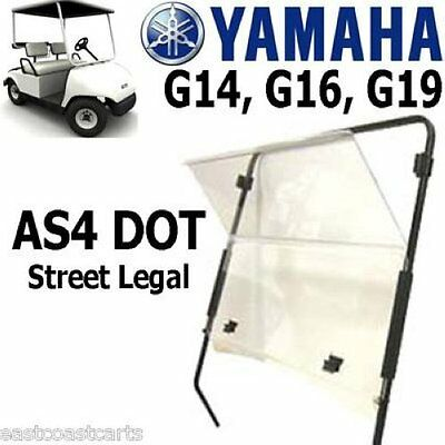 Yamaha Golf Cart DOT Approved AS4 Windshield CLEAR