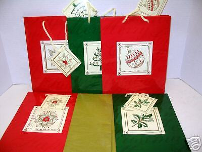 Lot of - 40 - Christmas/New Year Gift Bags/Tissue paper