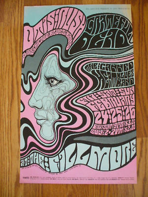 GRATEFUL DEAD Canned Heat 67 Wes Wilson Fillmore poster