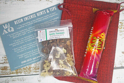 Charcoal Resin Incense - GIFT PACK 50g - Frankincense & Myrrh, Charcoal
