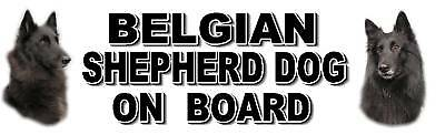 BELGIAN SHEPHERD DOG ON BOARD No2 Sticker by Starprint