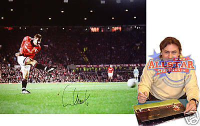 """ANDREI KANCHELSKIS SIGNED MANCHESTER UNITED 16""""x12"""" PHOTOGRAPH SEE PROOF"""