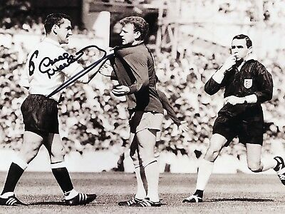 DAVE MACKAY SIGNED TOTTENHAM HOTSPUR 10x8 PHOTO COA PROOF SPURS BILLY BREMNER