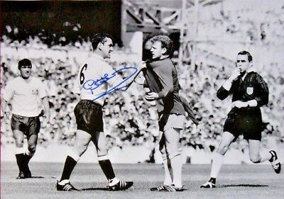 DAVE MACKAY SIGNED TOTTENHAM HOTSPUR 16x12 FOOTBALL PHOTO SPURS SEE PROOF & COA