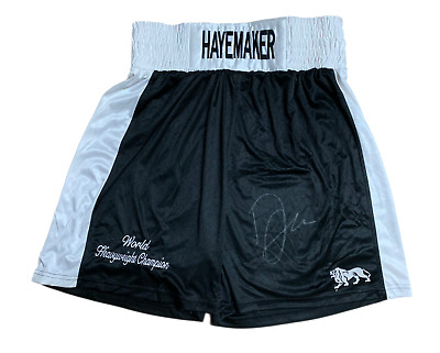 David Hayemaker Haye Signed Embroidered Boxing Trunks See Proof World Champion