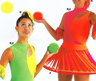 NEW DANCE TOPS LINED COLORS NEON SPANDEX Ch/Ad DANCE
