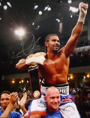 "DAVID HAYE SIGNED 16""x20"" BOXING PHOTOGRAPH v VALUEV SEE PROOF WORLD CHAMPION"