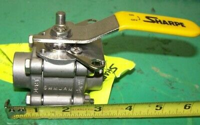 """New Sharpe 1/2"""" Weld-End Stainless Steel Ball Valve F99 A890"""