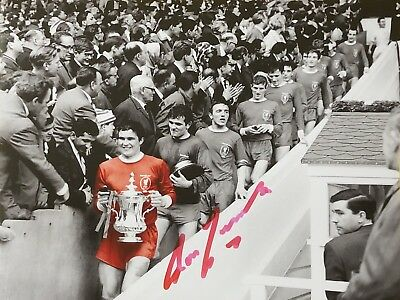 Ron Yeats Signed Liverpool 1965 Fa Cup Final Football Photo Proof Coa Kop Legend
