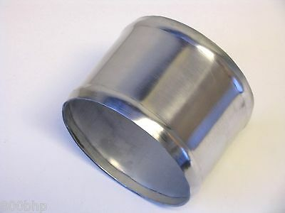 """Polished Induction Pipe 4"""" 102mm Straight Alloy Joiner"""