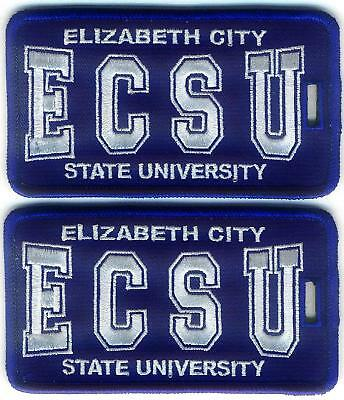 ELIZABETH CITY STATE UNIVERSITY Luggage ID Tags (Set of 2) - Embroidered