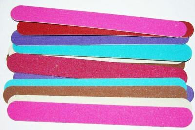 100 nail file files,wholesale bulk lot,double side,7""