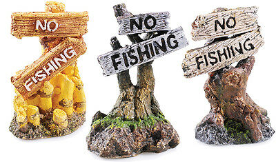 "Classic No Fishing Ornament  3"" For Aquarium Tanks 2679"