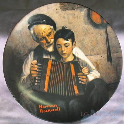 Norman Rockwell - The Music Maker 1981 Plate