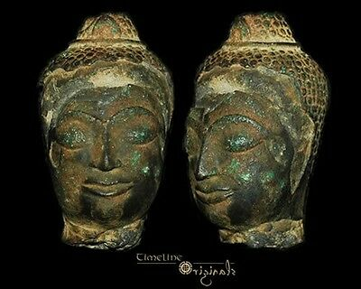 Post Medieval Indian Hindu Divinity Bronze Bust 008310
