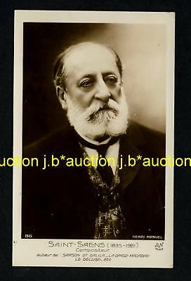 CAMILLE SAINT-SAENS French Pianist & Composer / Komponist * 10s RPPC
