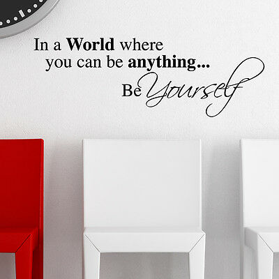 Be Yourself Wall Sticker Art Decals Quote Graphics