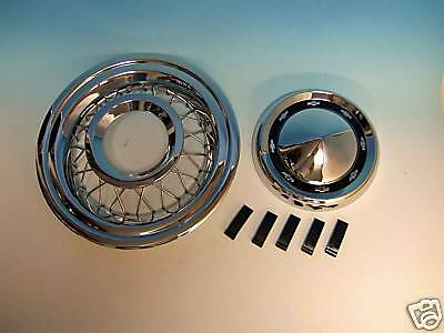 56 Chevy Accessory Wire Wheel Covers  Complete New 1956