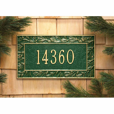 Whitehall Plaque - Pinecone Cast Aluminum Wall Sign