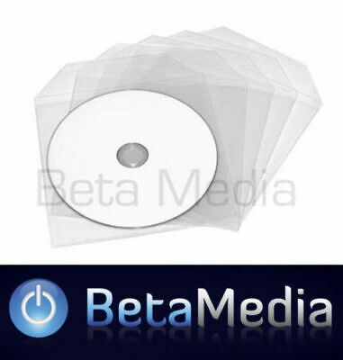1000 x Clear High Quality Plastic CD / DVD Sleeves