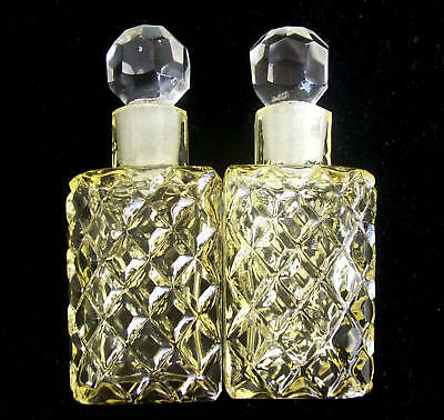 MATCHING PAIR~Vintage Czech Bookend Perfume Bottles~Signed~RARE~Very Collectible