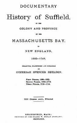1879 Genealogy & History of Suffield Connecticut CT