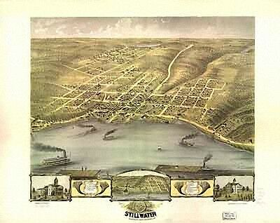 39 Antique Vintage Panoramic Maps of Minnesota MN on CD