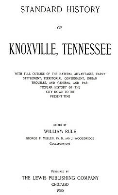1900 Genealogy & History of Knoxville Tennessee TN