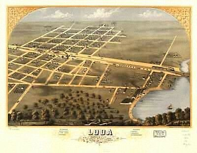 63 Antique Vintage Panoramic Maps of Illinois IL on CD
